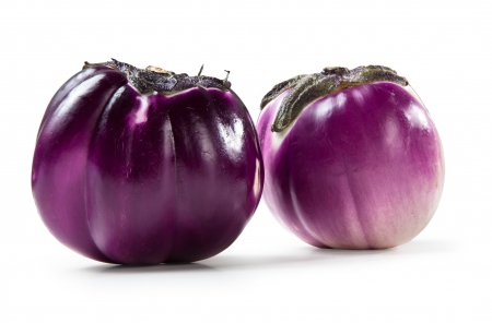 Violet Eggplant isolated on white background