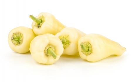 Fresh yellow paprika isolated on white