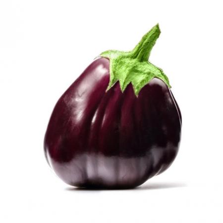 Melanzana tonda violetta purpurea